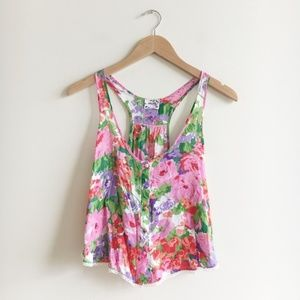 Intimately Free People Floral Crop Tank